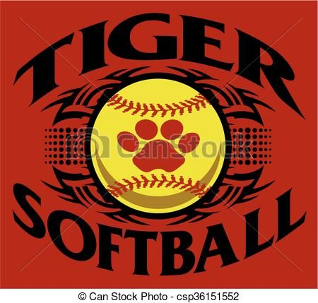 Tiger softball clipart graphic stock Vector - tiger softball - stock illustration, royalty free ... graphic stock