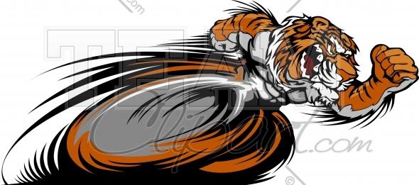 Tiger track clipart clip black and white Tiger Track Vector Image - Sports Clipart clip black and white