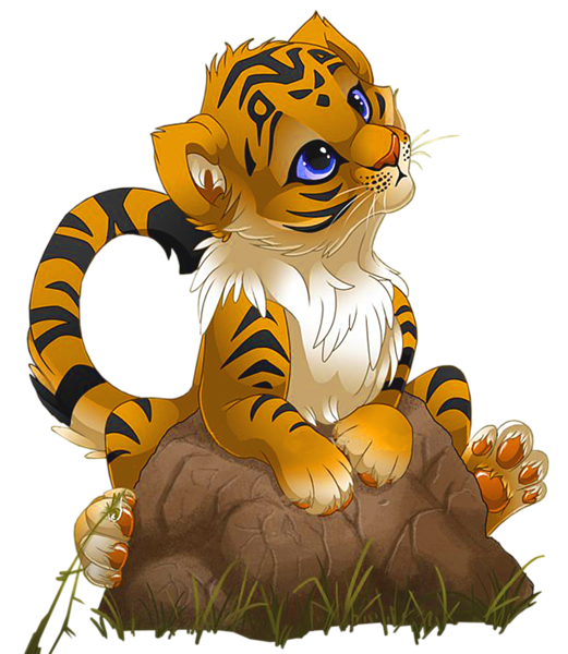 Tiger valentine clipart png stock Cute Little Tiger PNG Cartoon | Gallery Yopriceville - High ... png stock