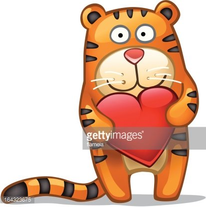 Tiger valentine clipart vector royalty free library Happy Valentine from Fun Tiger! premium clipart ... vector royalty free library
