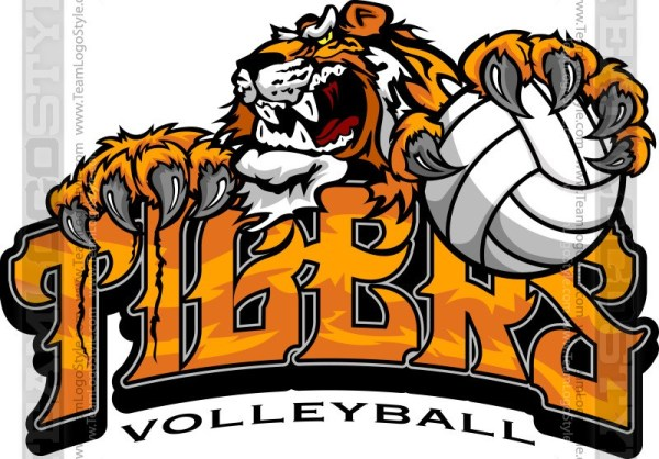 Tiger volleyball clipart picture freeuse library Tiger Volleyball Logo - Vector Clipart Tigers picture freeuse library
