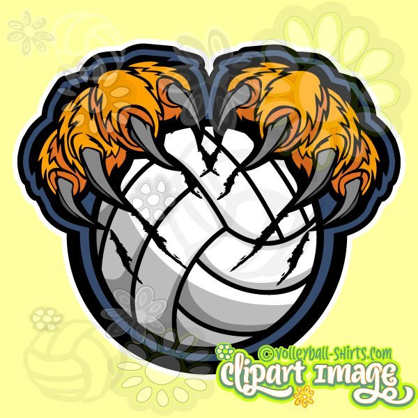 Tiger volleyball clipart free stock Tiger Volleyball Clip Art - Unique Volleyball Clipart Library free stock