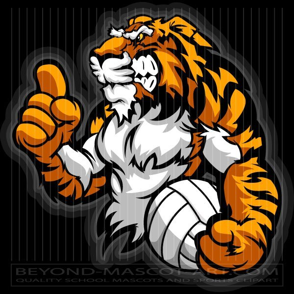 Tiger volleyball clipart clip transparent download Tiger Volleyball Clip Art clip transparent download
