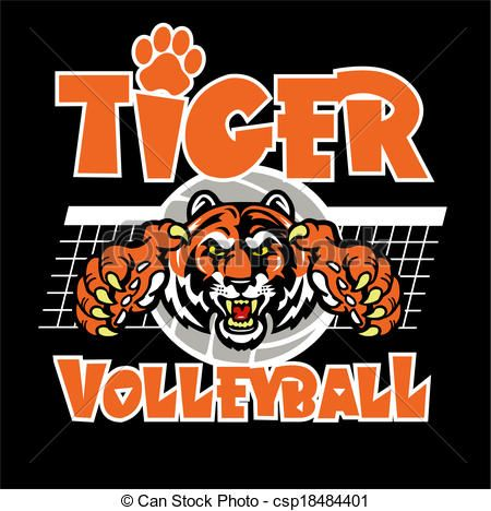 Tiger volleyball clipart image download Vector - tiger volleyball design - stock illustration ... image download