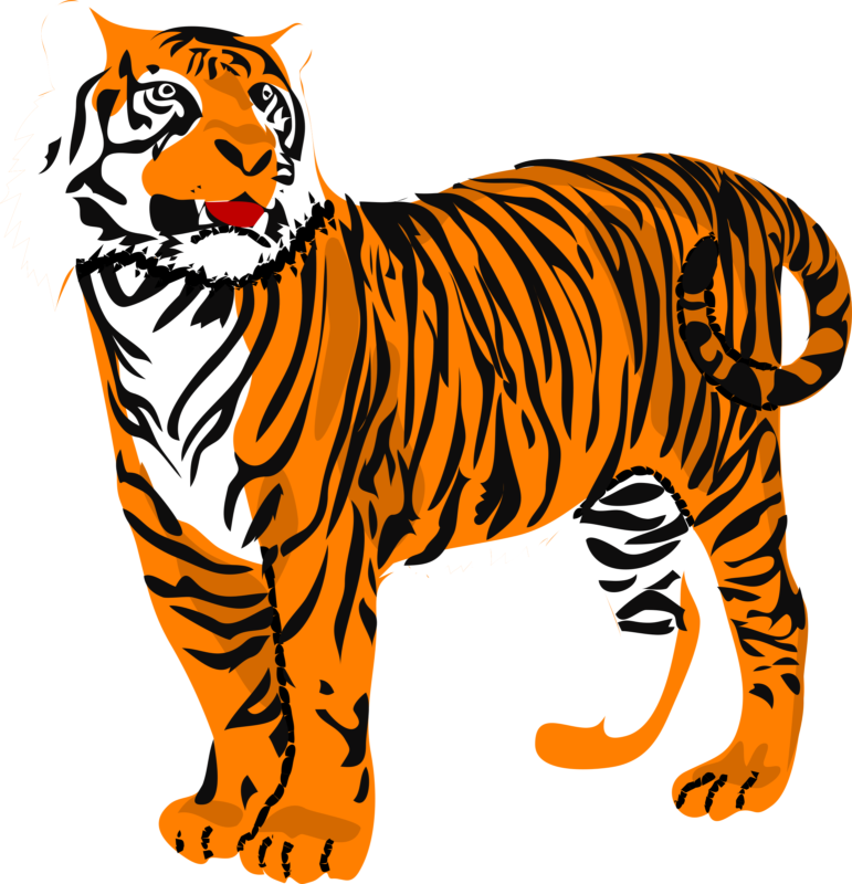 Tiger with basketball clipart free library Free Tiger Clipart Images & Photos【2018】 library
