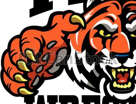 Tiger wrestling clipart clip freeuse library Clipart Vector of tiger wrestling team design with mascot ... clip freeuse library