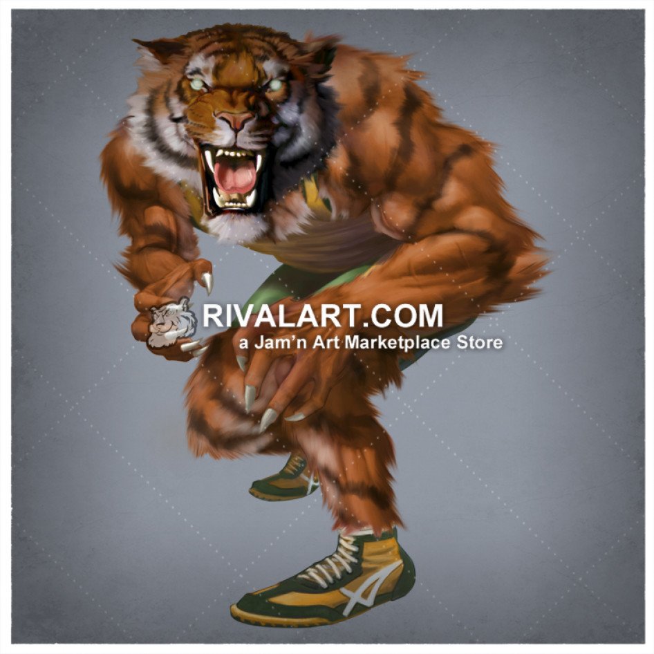 Tiger wrestling clipart clipart black and white library Tiger Wrestling With Transparent Background clipart black and white library