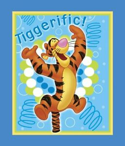 Tigger springs clipart svg library Details about Disney\'s Tigger Winnie The Pooh Panel Cotton Print Quilting  Fabric Springs svg library