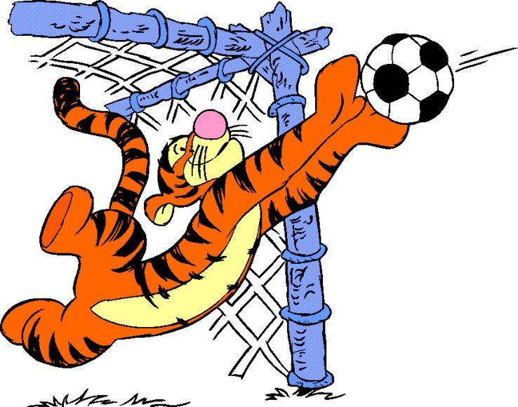 Tigger springs clipart vector free library free soccer clip art | Tigger catching a soccer ball in ... vector free library