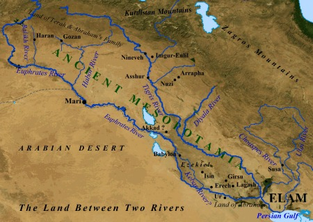 Tigris river map clipart banner download The Land Between Two Rivers - a map of ancient Mesopotamia ... banner download