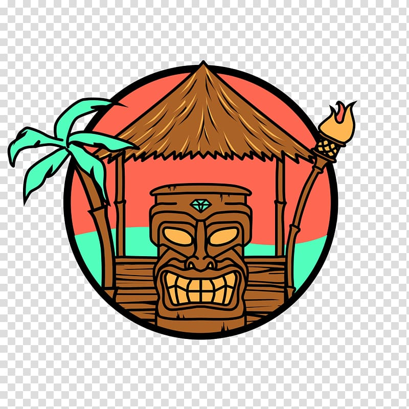 Tiki background clipart banner royalty free library Tropical Tiki Huts Builder & Repair Service Tiki bar , tiki ... banner royalty free library