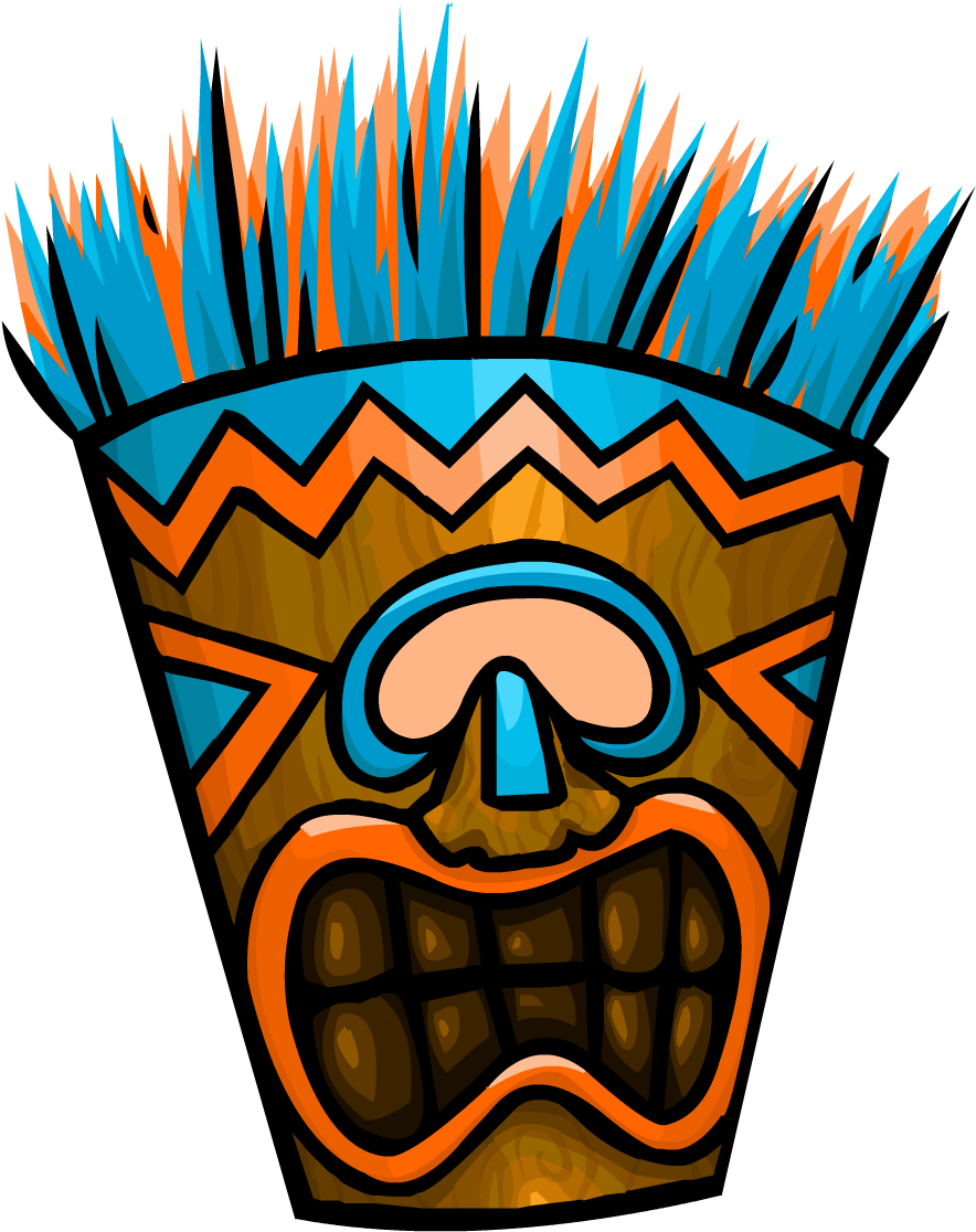 Tiki background clipart image royalty free Download Free png Download Blue Tiki Mask Mask Tiki PNG ... image royalty free