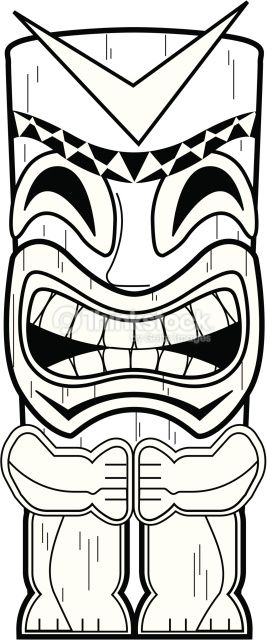Tiki bar black and white vector clipart jpg download Tiki Totem Pole | tiki bar | Tiki totem, Tiki mask, Hawaiian ... jpg download