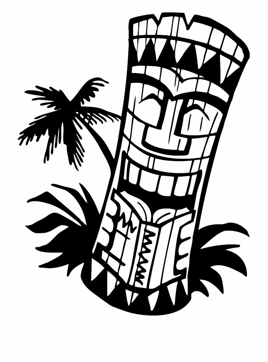 Tiki clipart black and white clipart free download Hawaiian Tiki Clip Art Borders Free Clipart Images - Tiki ... clipart free download