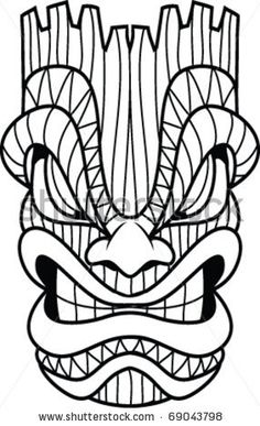 Tiki clipart black and white graphic freeuse stock Hawaiian Clip Art Black And White Tiki | Clipart Panda ... graphic freeuse stock