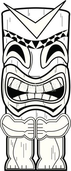 Tiki clipart black and white graphic free stock Tiki Clipart Group with 74+ items graphic free stock