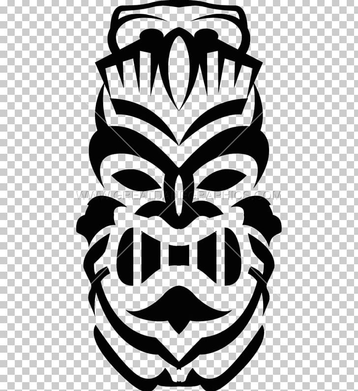 Tiki clipart black and white vector library library Tiki Culture Tiki Bar PNG, Clipart, Art, Black And White ... vector library library