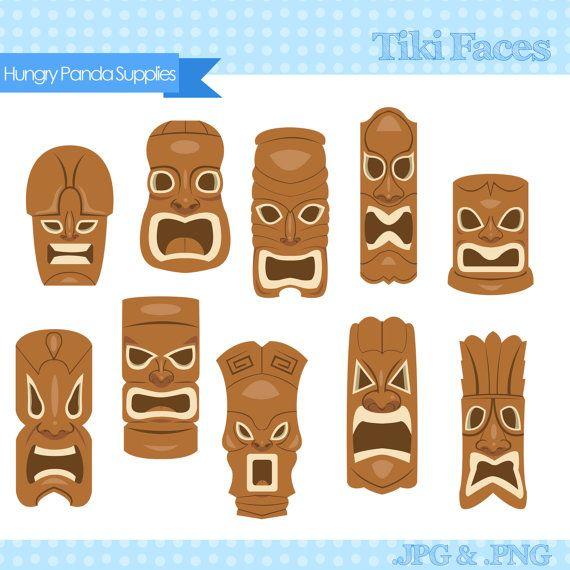 Tiki face clipart clip transparent download Tiki Mask Clipart, tiki faces clipart, tiki statues clip art ... clip transparent download