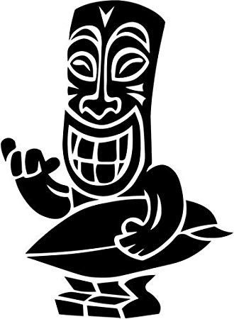 Tiki man clipart silhouette graphic download Surfs Up Tiki | Cricket | Tribal tattoos, Disney silhouettes ... graphic download