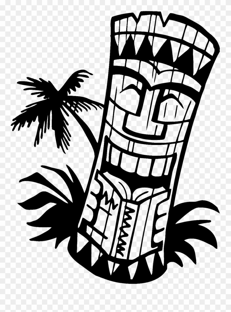 Tiki man clipart silhouette clip art freeuse download Hawaiian Tiki Clip Art Borders Free Clipart Images - Tiki ... clip art freeuse download