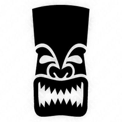 Tiki man clipart silhouette image black and white Gallery For > Tiki Stencils | The Tiki Tiki Room | Tiki head ... image black and white