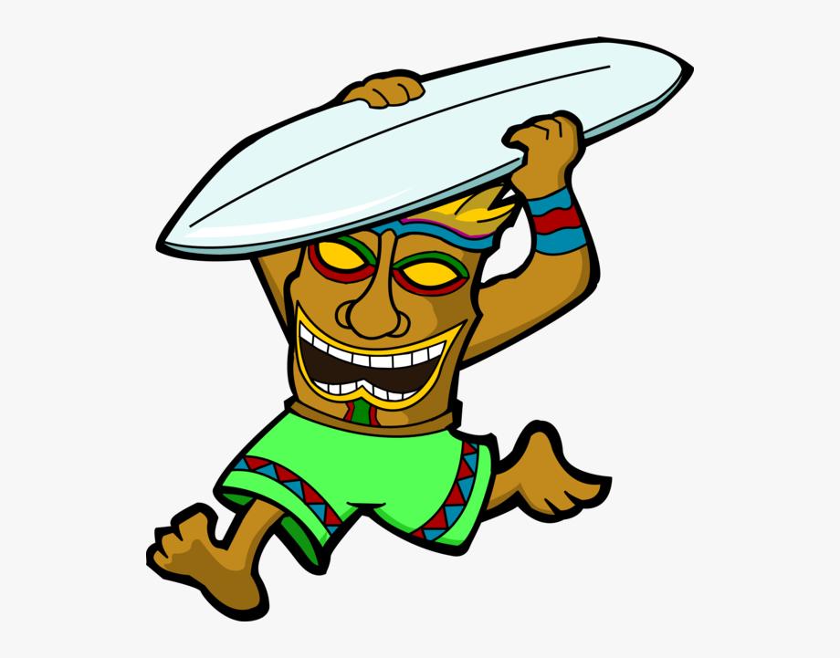 Tiki man clipart silhouette clipart free stock Tiki Clipart Tiki Man - Tiki Surfing Png #710835 - Free ... clipart free stock