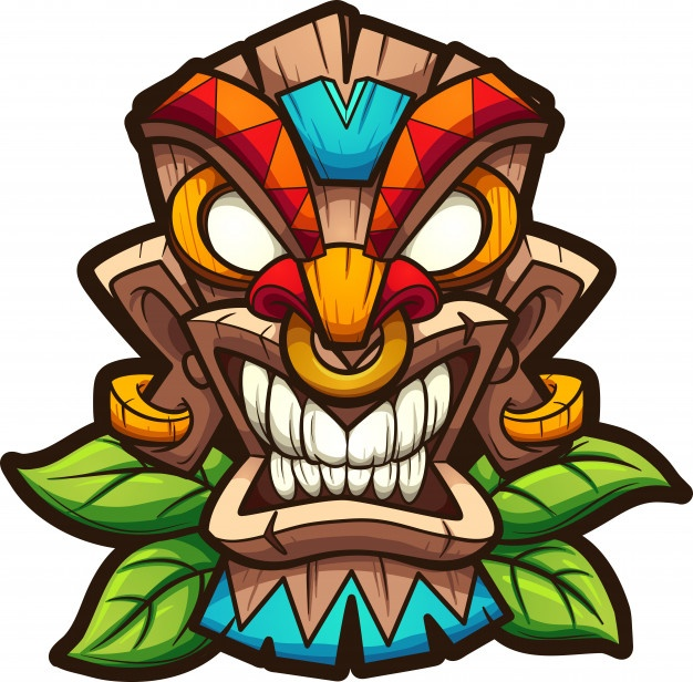 Tiki face clipart clipart black and white Tiki Vectors, Photos and PSD files | Free Download clipart black and white