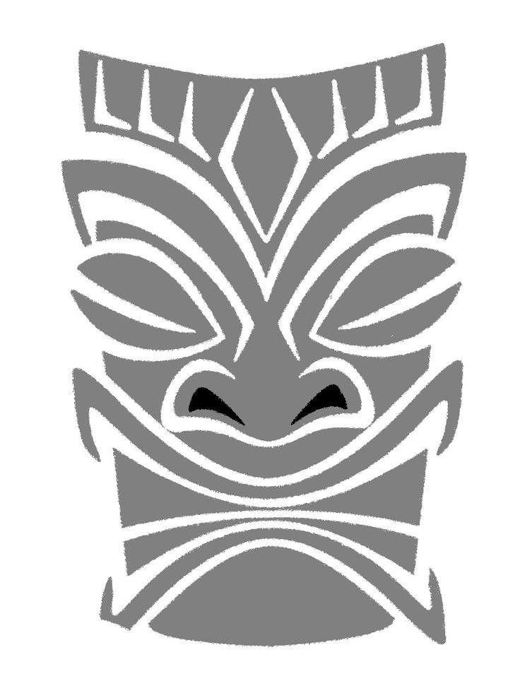 Tiki man clipart silhouette black and white Tiki Man Drawing at PaintingValley.com | Explore collection ... black and white