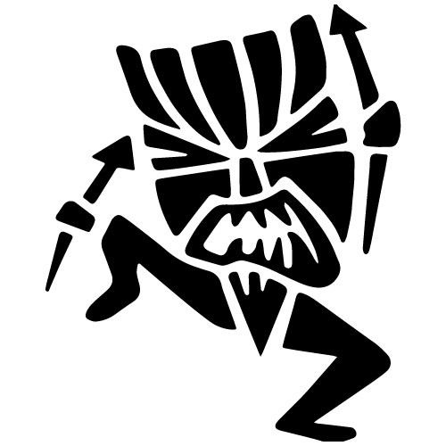 Tiki man clipart silhouette png free stock Tiki Man Decal from Decal Fanatic | Sketches | Tiki tattoo ... png free stock