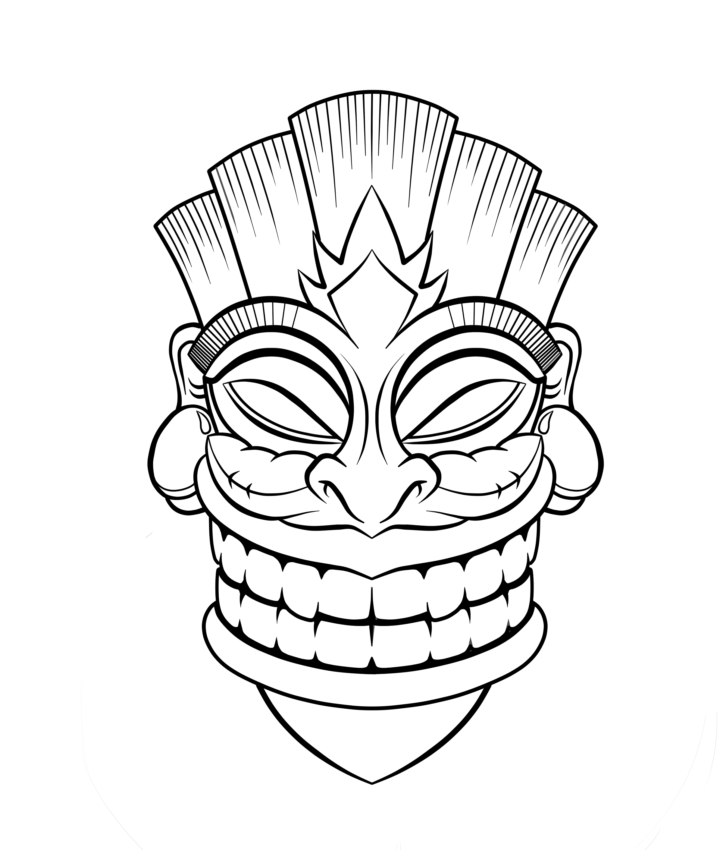 Tiki totem faces black and white clipart clipart royalty free Tiki Hut Clipart Cliparts Co | Tiki Time | Tiki tattoo, Tiki ... clipart royalty free