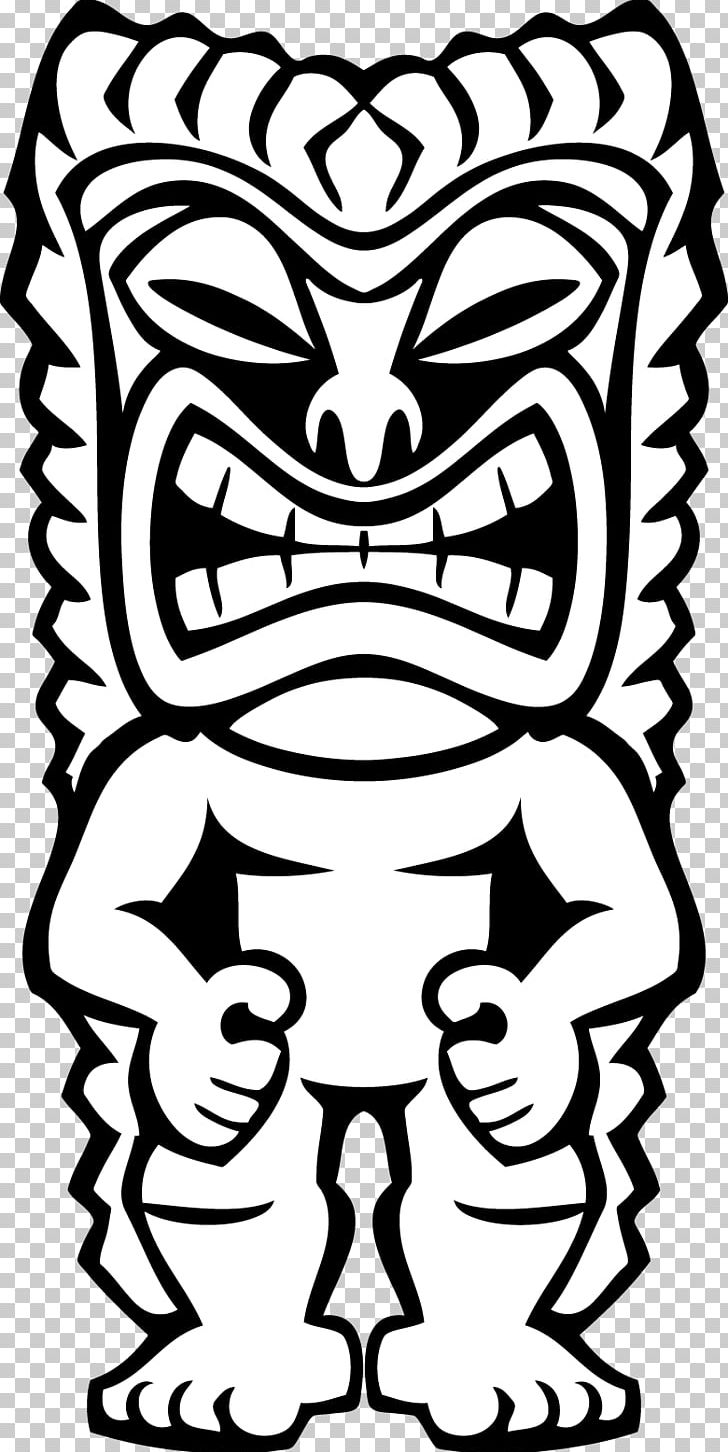 Tiki totem faces black and white clipart png transparent library Hawaiian Tiki PNG, Clipart, Art, Black, Black And White ... png transparent library
