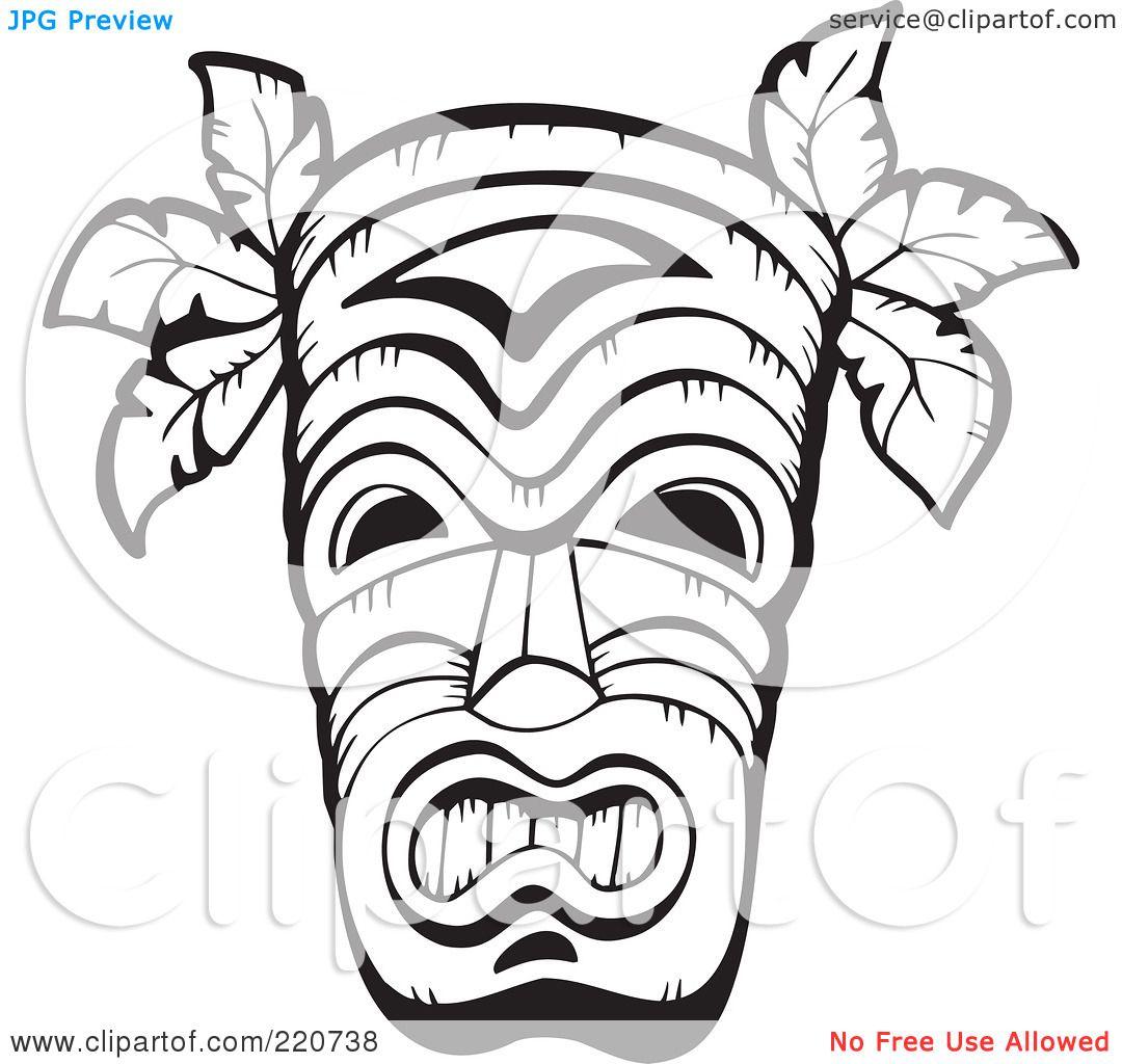 Tiki totem faces black and white clipart vector library library Hawaiian Clip Art Black And White Tiki | Clipart Panda ... vector library library