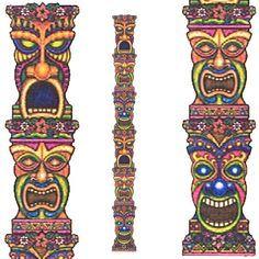 Tiki totem pole clipart transparent stock Jointed Tiki Totem Pole | 5th Bday Ideas Luke | Tiki totem ... transparent stock