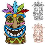 Tiki totem pole clipart image download free totem pole patterns | Tiki Illustrations and Clipart ... image download