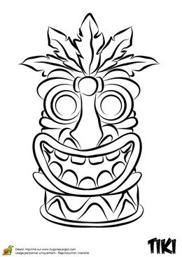 Tiki totems coloring clipart graphic library stock Hawaiian Language clipart - About 1073 free commercial ... graphic library stock