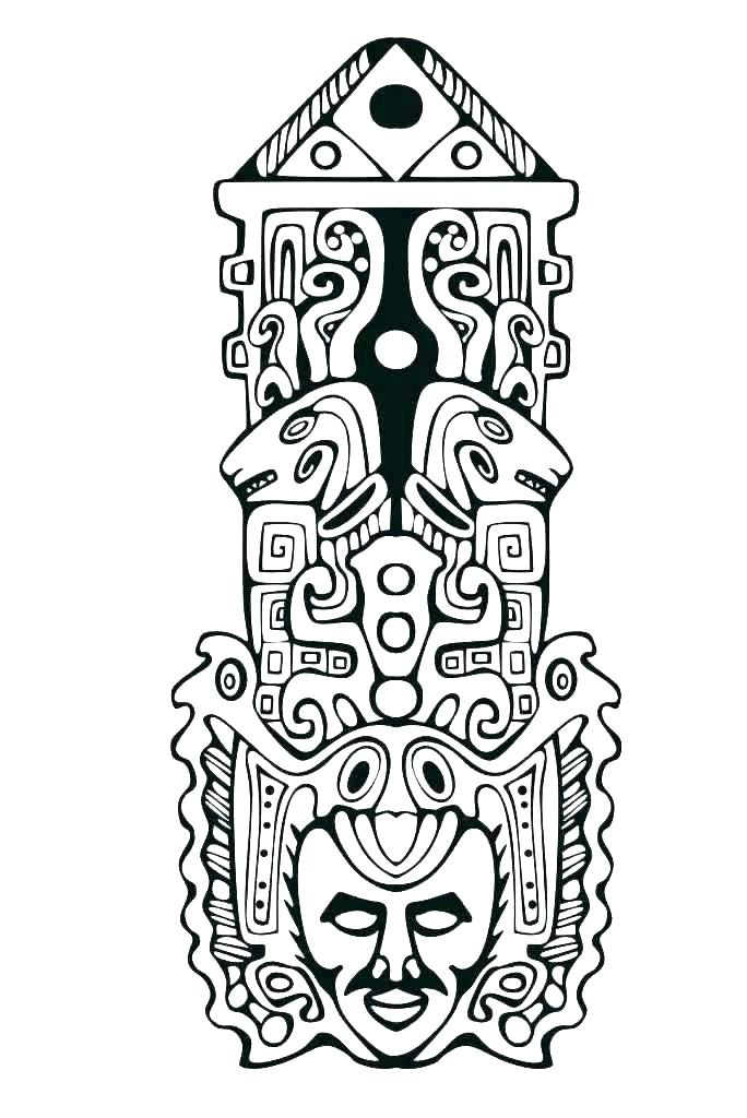 Tiki totems coloring clipart vector freeuse library Collection of Totem clipart | Free download best Totem ... vector freeuse library