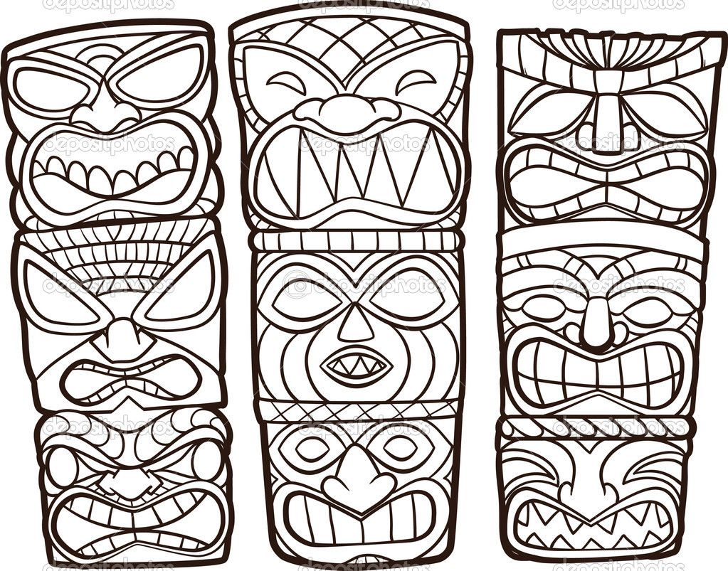 Tiki totems coloring clipart picture royalty free library Totem Coloring Pages | cart cart lightbox lightbox share ... picture royalty free library