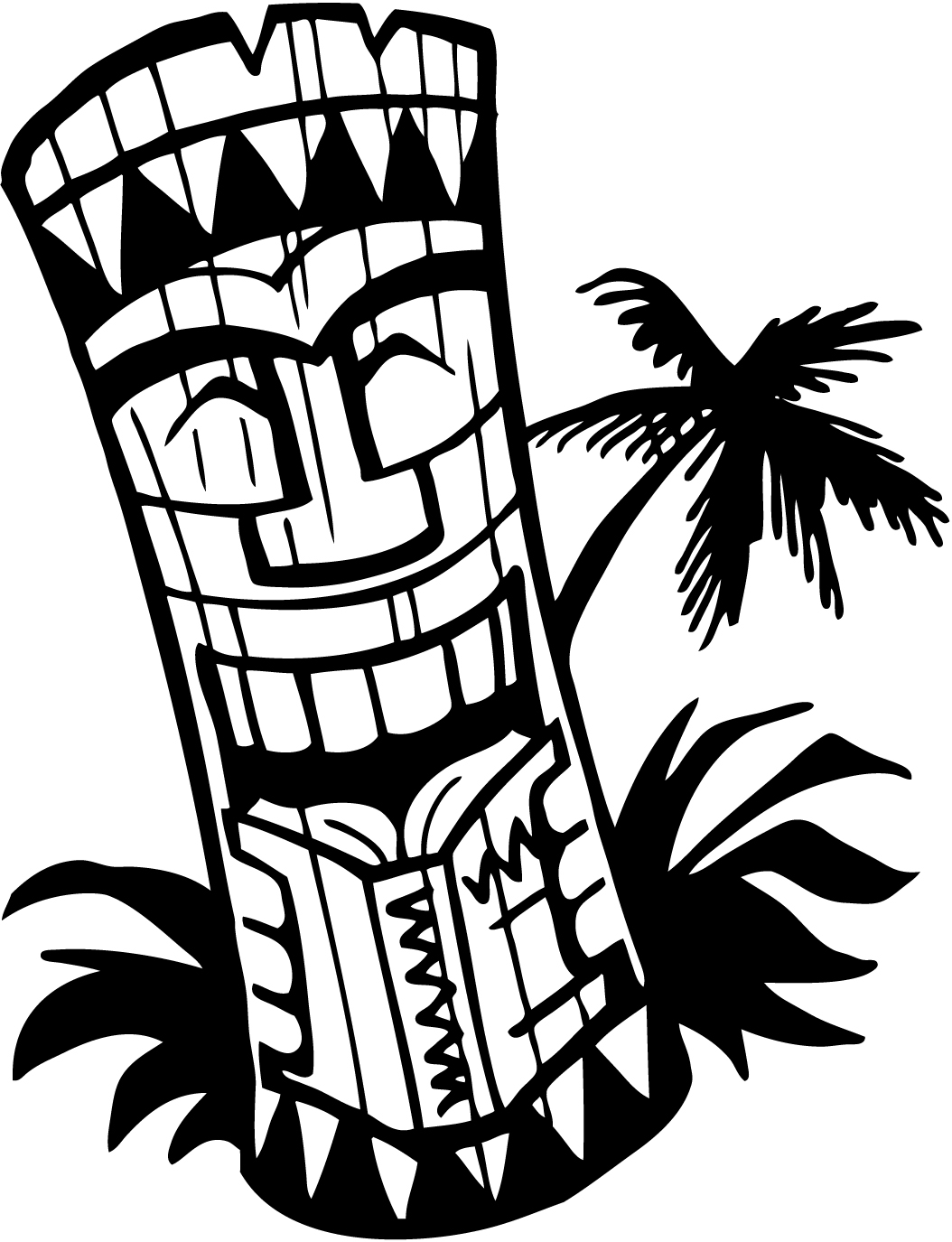 Tikki bar drinks clipart black and white svg free download Hawaiian Tiki Clipart | Free download best Hawaiian Tiki ... svg free download