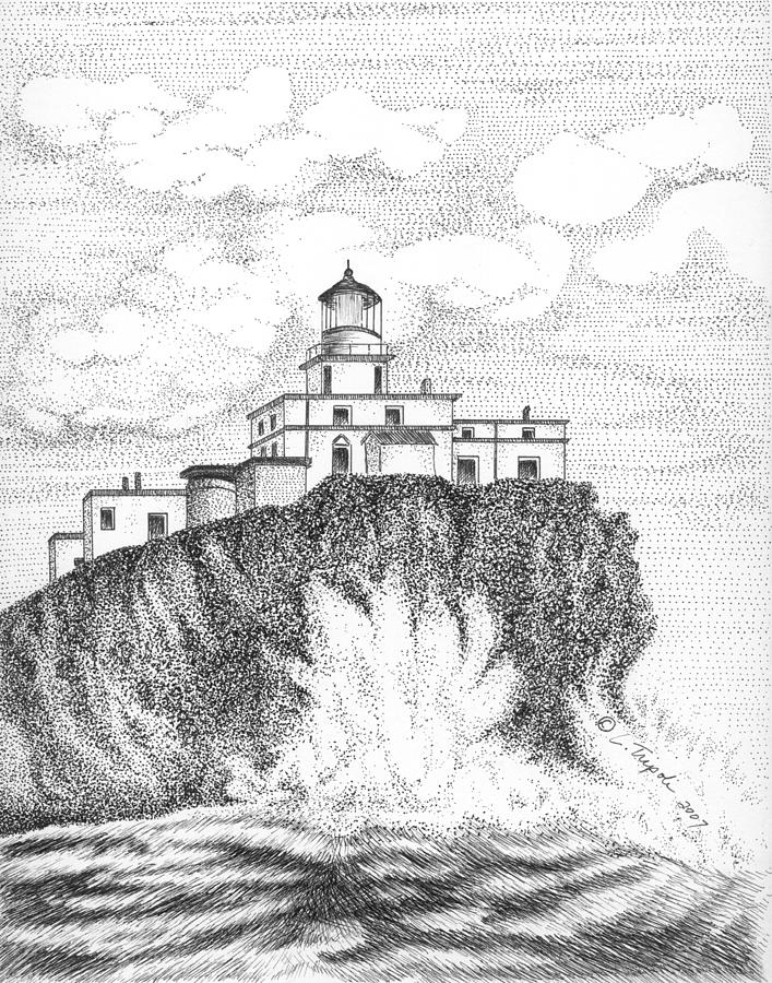 Tillamook lighthouse clipart graphic royalty free download Tillamook Rock Lighthouse by Lawrence Tripoli graphic royalty free download