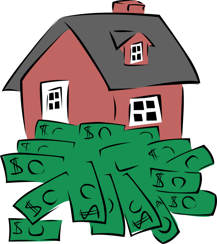Time and money clipart free library Clipart - House sitting on a pile of money library