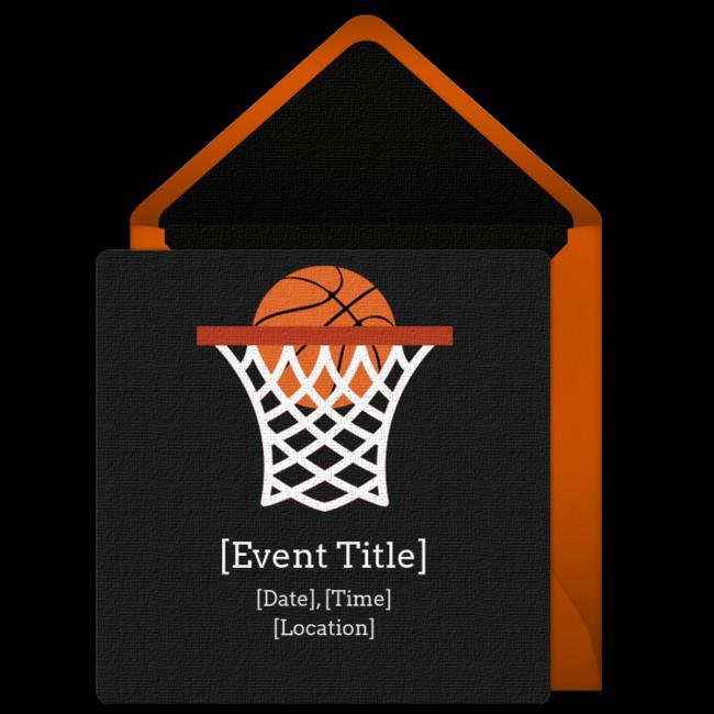 Time for basketball clipart jpg library stock Free Basketball Net Invitations | Pinterest | Free basketball ... jpg library stock