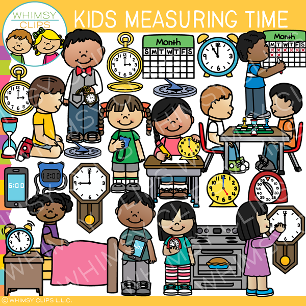 Time for kids clipart picture royalty free library Kids Measuring Time Clip Art picture royalty free library