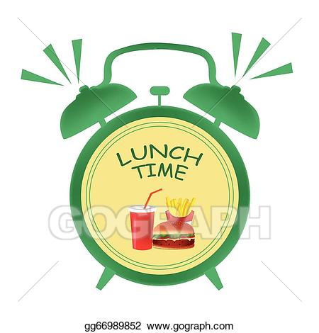 Time for lunch clipart clip free download Vector Clipart - Lunch time clock. Vector Illustration ... clip free download