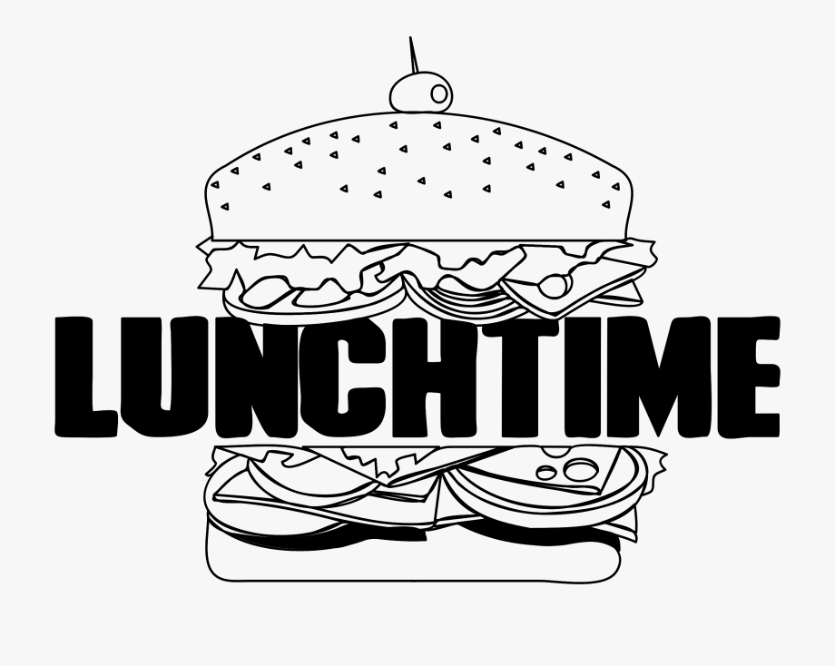 Time for lunch clipart graphic black and white download Clipart Lunch Time Big - Lunch Time Clip Art #216409 - Free ... graphic black and white download