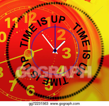 Time is up clipart clip art freeuse library Stock Illustration - Time is up means checking deadline and ... clip art freeuse library