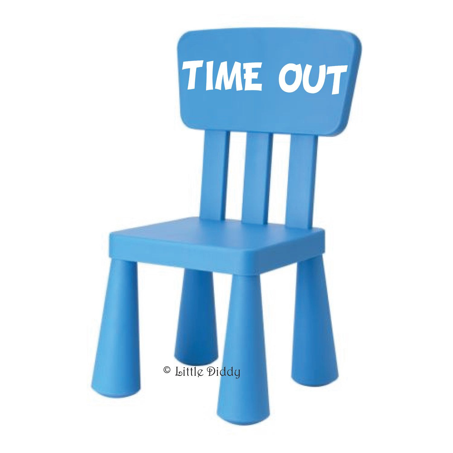 Time out chair clipart banner black and white stock TIME OUT Vinyl Decal- perfect for a time out chair...IKEA ... banner black and white stock