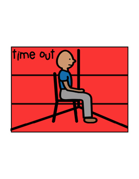 Time out chair clipart clipart freeuse library Time Out Visuals Worksheets & Teaching Resources | TpT clipart freeuse library