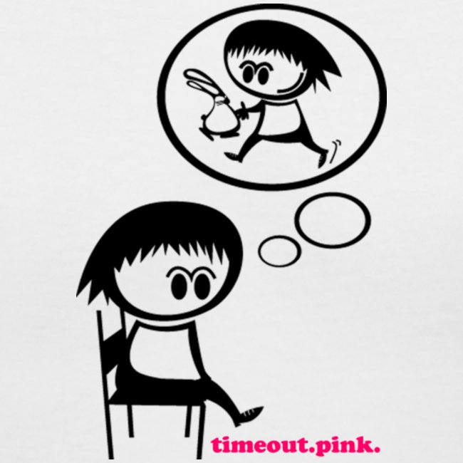 Time out chair clipart clip art download TimeOut Pink | Women\'s V-Neck T-Shirt clip art download