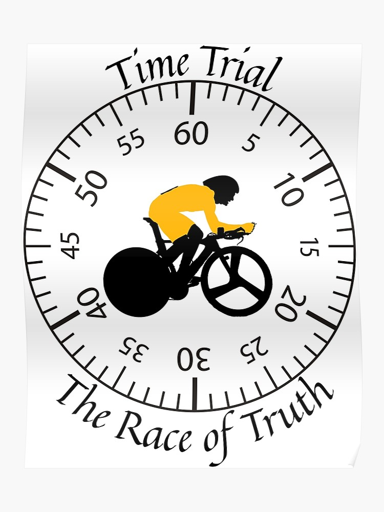 Time trial bicycle clipart graphic black and white Time Trial - Race Against the Clock | Poster graphic black and white