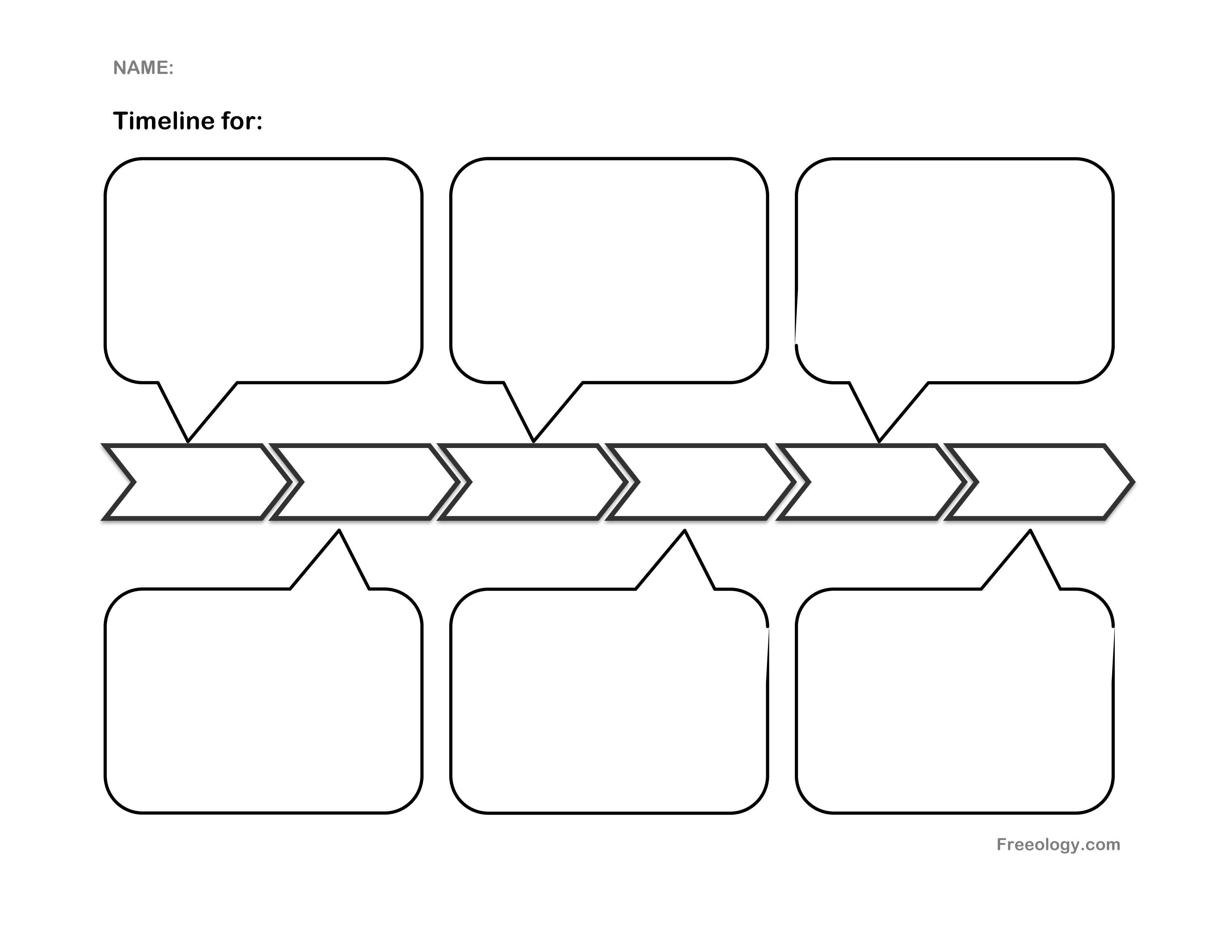 Timeline template clipart png black and white stock Horizontal timeline template clipart images gallery for free ... png black and white stock